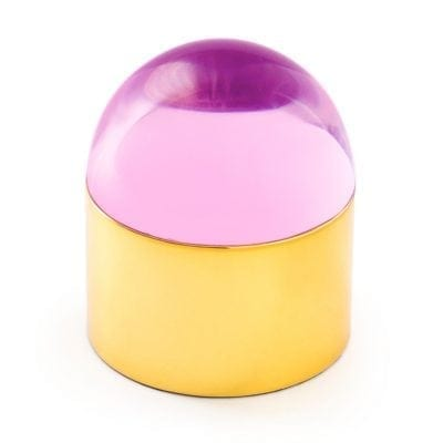 Small Globo Pink and Brass Box