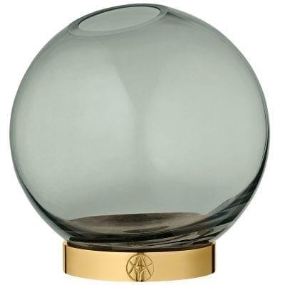 Globe Vase w.stand Forest Medium