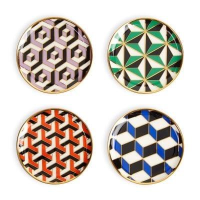 Versailles Set of 4 Porcelain Coasters