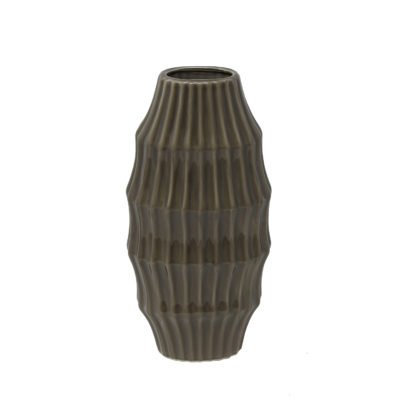 Anthracite Vase Low