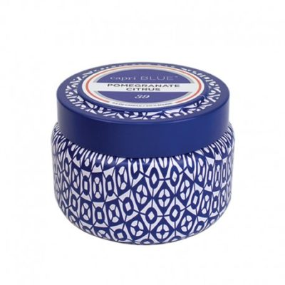 Printed Travel Tin Candle Pomegranate Citrus
