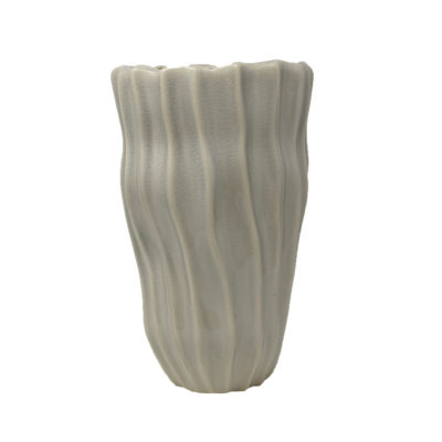 Beige Wave Vase Large