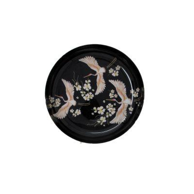 Black Printed Brass Bowl Medium