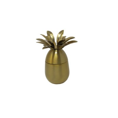 Brass Pineapple Candle