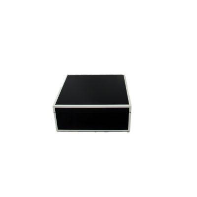 Black White Square Lacquer Box Small