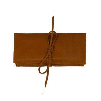 Camel Nappa Leather Jewellery Case Organizer