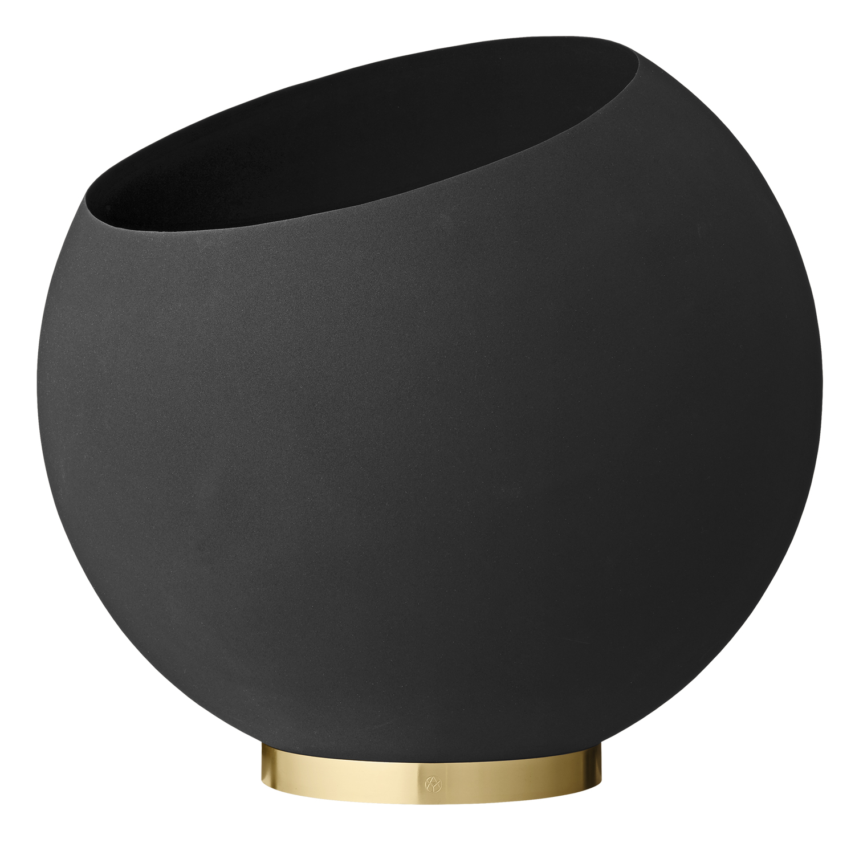 Globe Flower Pot Black XXL
