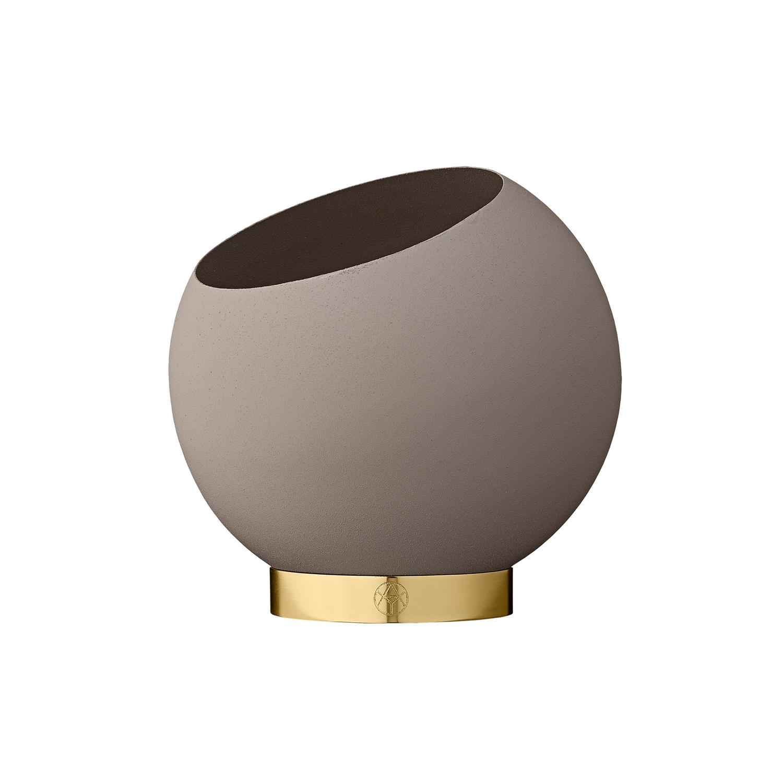 Globe Vase Flower Pot Taupe Small