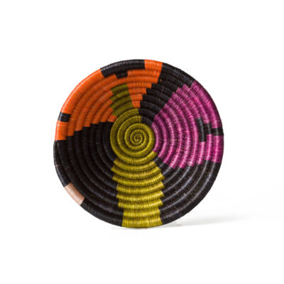 Small Abstract Black & Neon Basket