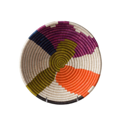 Medium Abstract Neon Basket