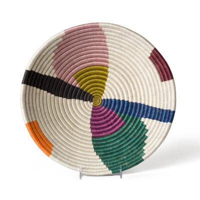 Extra Large Multicolor Cheza Round Basket