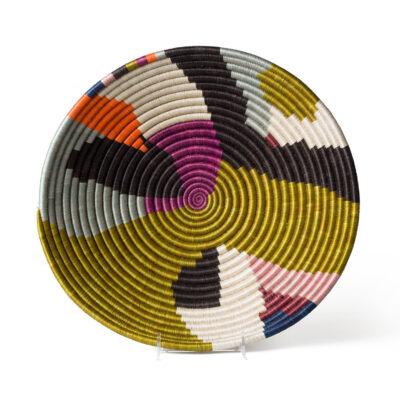 Extra Large Multicolor Kolagi Round Basket