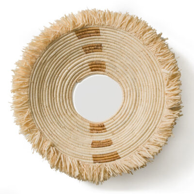 Fringed Hooped Natural Geo Wall Plate